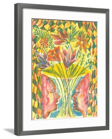 Faces and Flowers-Mary Kuper-Framed Giclee Print