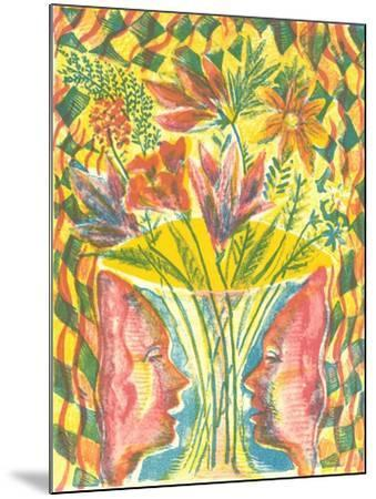 Faces and Flowers-Mary Kuper-Mounted Giclee Print