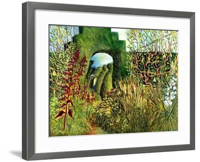 Great Dixter: Topiary and Flowers-Mary Kuper-Framed Giclee Print