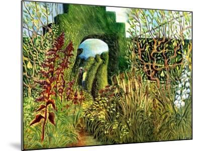 Great Dixter: Topiary and Flowers-Mary Kuper-Mounted Giclee Print
