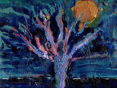 Tree and Strawberry Moon, 2016-Gigi Sudbury-Framed Giclee Print