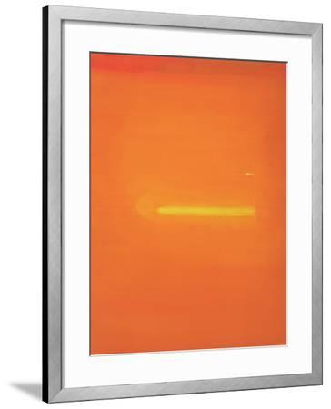 Orange Interior with Figure, 2000-John Miller-Framed Giclee Print