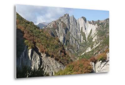 Azerbaijan, Sheki. A Rocky Cliffside Outside of Sheki-Alida Latham-Metal Print