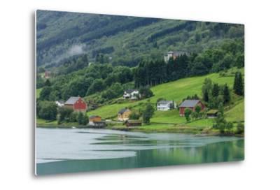 Buildings. Architecture. Olden, Norway-Tom Norring-Metal Print