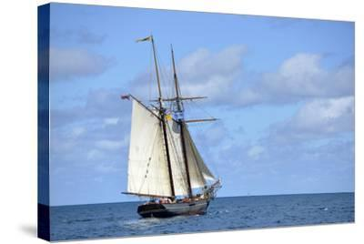 British Virgin Islands, Jost Van Dyke. Freedom Schooner Amistad under Sail-Kevin Oke-Stretched Canvas Print