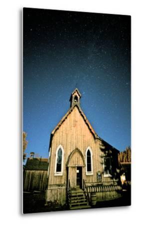 Barkerville at Night. Barkerville Historic Town, Cariboo, British Columbia, at Night-Richard Wright-Metal Print