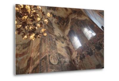 Georgia, Telavi. Religious Artwork at Gremi Monastery-Alida Latham-Metal Print
