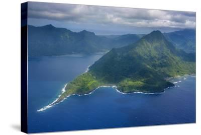 Aerial of the Island of Upolu, Samoa, South Pacific-Michael Runkel-Stretched Canvas Print