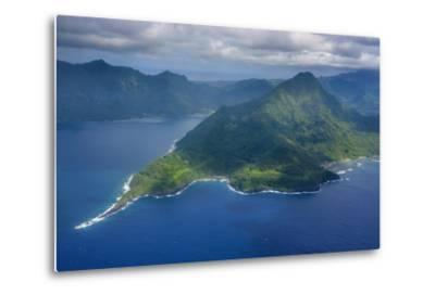 Aerial of the Island of Upolu, Samoa, South Pacific-Michael Runkel-Metal Print