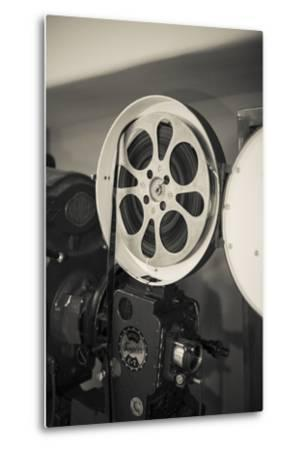 Albuquerque, New Mexico, USA. Central Ave, Route 66 Vintage Film Projector at the Kimo Theater-Julien McRoberts-Metal Print