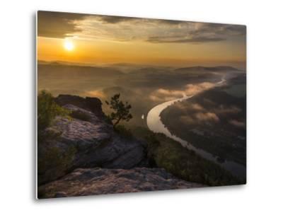 Elbe Sandstone Mountains-Martin Zwick-Metal Print