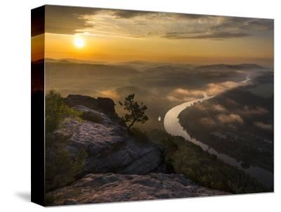 Elbe Sandstone Mountains-Martin Zwick-Stretched Canvas Print