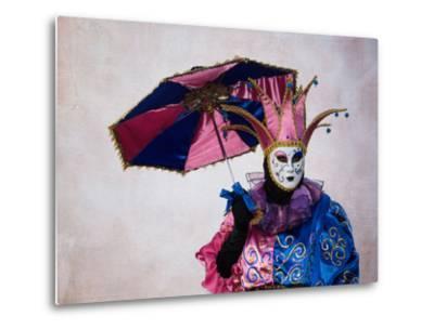 Elaborate Costume for Carnival, Venice, Italy-Darrell Gulin-Metal Print