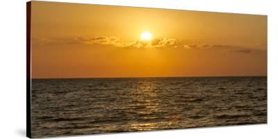 Beautiful Orange Sunset over the Gulf of Mexico from Anna Maria Island, Florida-Sheila Haddad-Stretched Canvas Print