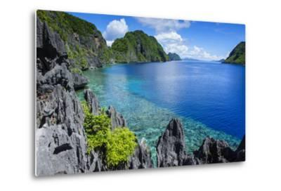 Crystal Clear Water in the Bacuit Archipelago, Palawan, Philippines-Michael Runkel-Metal Print