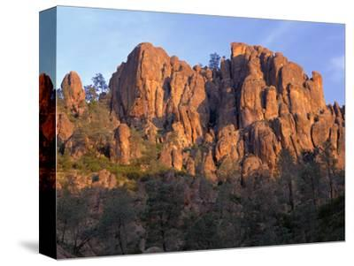 California, Pinnacles National Park, Sunrise Highlights Spires and Crags-John Barger-Stretched Canvas Print