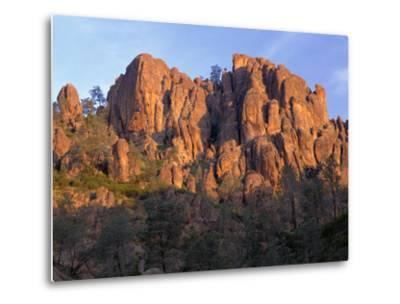 California, Pinnacles National Park, Sunrise Highlights Spires and Crags-John Barger-Metal Print