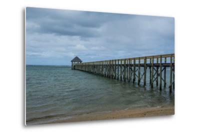 Long Wooden Pier, Coral Coast, Viti Levu, Fiji, South Pacific-Michael Runkel-Metal Print