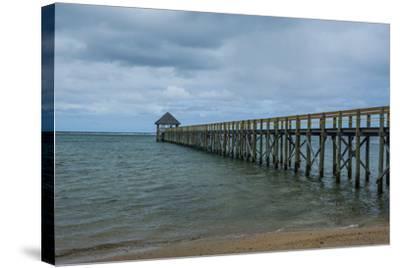 Long Wooden Pier, Coral Coast, Viti Levu, Fiji, South Pacific-Michael Runkel-Stretched Canvas Print