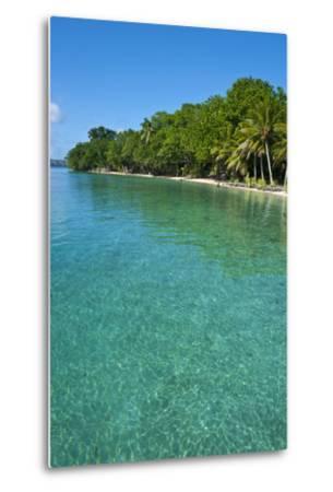 Beach at the Aore Islet before the Island of Espiritu Santo, Vanuatu, South Pacific-Michael Runkel-Metal Print