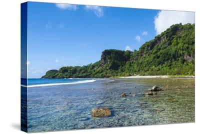 Bay and Turquoise Water in Tau Island, Manu'A, American Samoa, South Pacific-Michael Runkel-Stretched Canvas Print