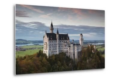 Germany, Bavaria, Hohenschwangau, Castle, Marienbrucke Bridge View, Dusk-Walter Bibikow-Metal Print