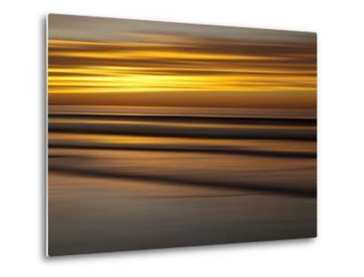 USA, California, La Jolla, Abstract of Incoming Waves at Sunset-Ann Collins-Metal Print