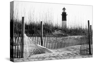 USA, Georgia, Tybee Island, Fences and Lighthouse-Ann Collins-Stretched Canvas Print