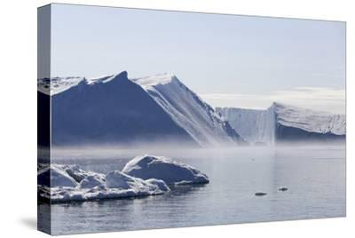 Greenland, Ilulissat Icefjord, Tabular Icebergs and Sea Water-Aliscia Young-Stretched Canvas Print