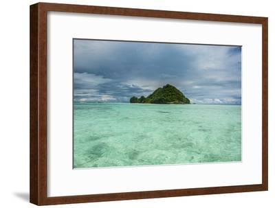 Little Island in the Rock Islands, Palau, Central Pacific-Michael Runkel-Framed Premium Photographic Print