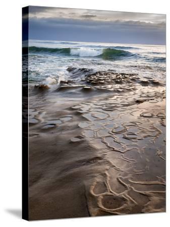 USA, California, La Jolla, Wave Breaking Toward Tide Pools at Coast Blvd-Ann Collins-Stretched Canvas Print