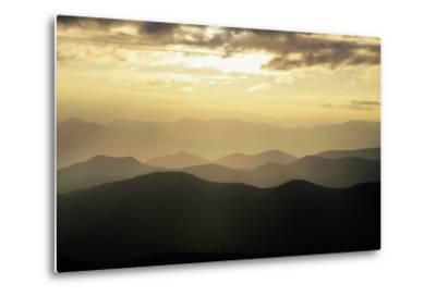 Sunset and Mountains Along Blue Ridge Parkway, North Carolina-Richard and Susan Day-Metal Print