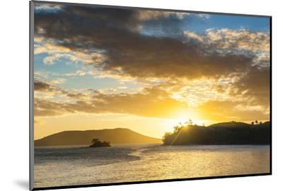 Sunset over the Beach, Nacula Island, Yasawa, Fiji, South Pacific-Michael Runkel-Mounted Premium Photographic Print