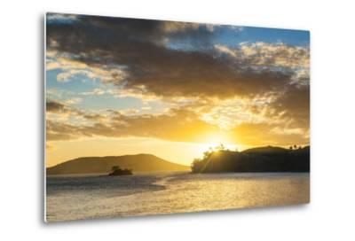 Sunset over the Beach, Nacula Island, Yasawa, Fiji, South Pacific-Michael Runkel-Metal Print