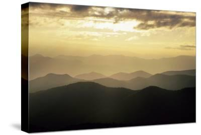 Sunset and Mountains Along Blue Ridge Parkway, North Carolina-Richard and Susan Day-Stretched Canvas Print