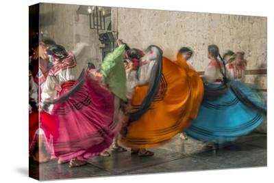 Mexico, Oaxaca, Mexican Folk Dance-Rob Tilley-Stretched Canvas Print