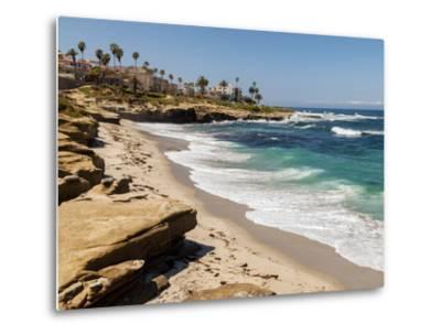 USA, California, La Jolla, Wipeout Beach-Ann Collins-Metal Print