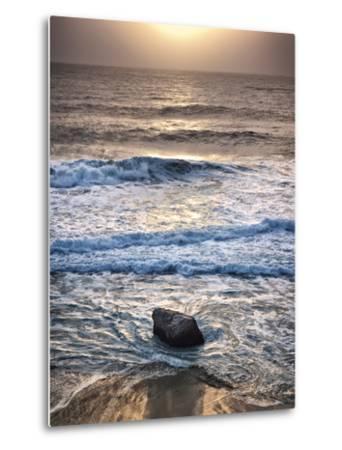 USA, California, Big Sur, Sunset at Garrapata State Beach-Ann Collins-Metal Print