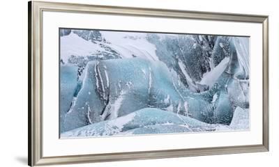 Svinafellsjoekull Glacier in Vatnajokull During Winter. Glacier Front and Icefall-Martin Zwick-Framed Premium Photographic Print