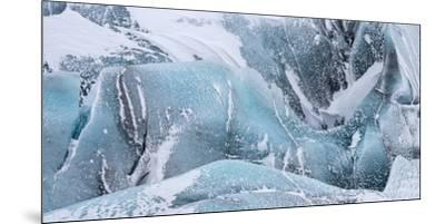 Svinafellsjoekull Glacier in Vatnajokull During Winter. Glacier Front and Icefall-Martin Zwick-Mounted Premium Photographic Print