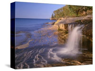 Michigan, Pictured Rocks National Lakeshore-John Barger-Stretched Canvas Print