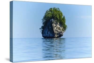 Rocky Outcrops in the Bacuit Archipelago, Palawan, Philippines-Michael Runkel-Stretched Canvas Print