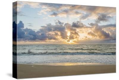Hawaii, Kauai, Kealia Beach Sunrise-Rob Tilley-Stretched Canvas Print