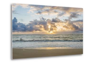 Hawaii, Kauai, Kealia Beach Sunrise-Rob Tilley-Metal Print