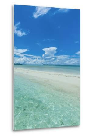 Little Sand Strip Appearing in Low Tide at the Rock Islands, Palau, Central Pacific-Michael Runkel-Metal Print
