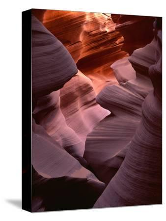 USA, Arizona, Navajo Tribal Park, Erosion of Navajo Sandstone of Lower Antelope Canyon-John Barger-Stretched Canvas Print