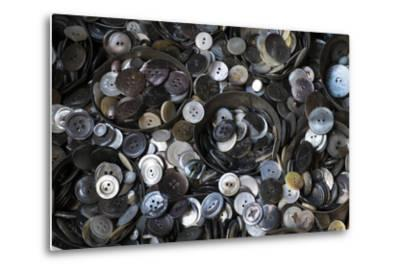 Pile of Old Buttons, New York City, New York, USA-Julien McRoberts-Metal Print