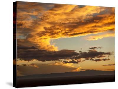 USA, Colorado, San Juan Mountains. Sunset across the San Luis Valley-Ann Collins-Stretched Canvas Print