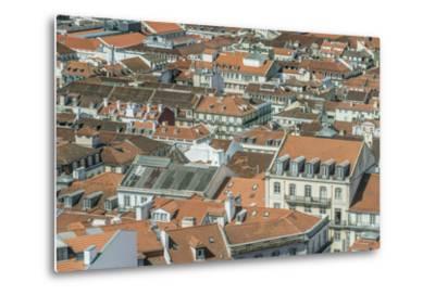 Portugal, Lisbon, Baixa Rooftops from Sao Jorge Castle-Rob Tilley-Metal Print