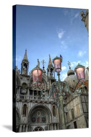 St. Marks and Lamp Post, Venice, Italy-Darrell Gulin-Stretched Canvas Print